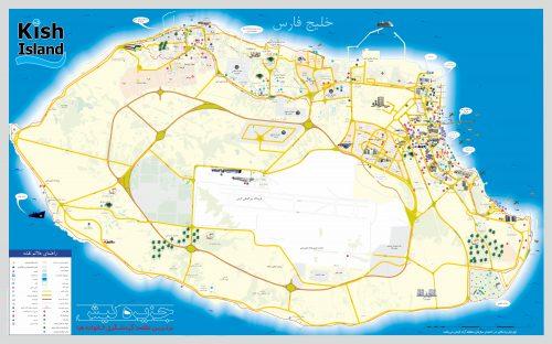 نقشه تصویری شهر جزیره کیش